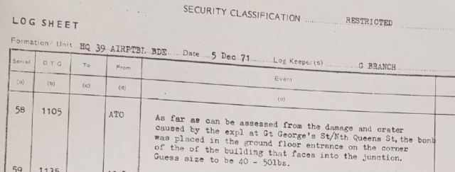British Army bomb expert on McGurk's Bar explosion