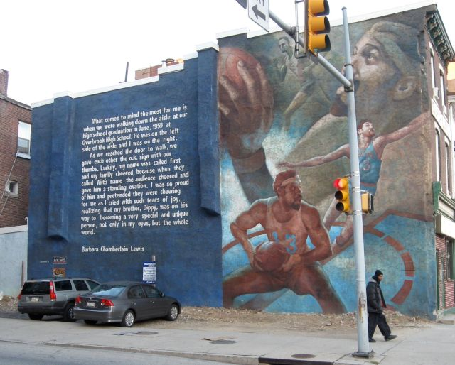 Wilt Chamberlain mural