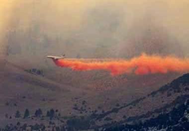 3,000 plus acre blaze burning southeast of Hawthorne