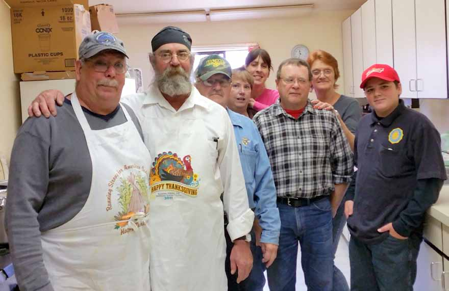 Volunteers host feast for those in need