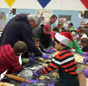 Courtesy photo Students from Tricia Schumann and Sandy Esspnpreis' classes made holiday cookies with the help of their family and friends.
