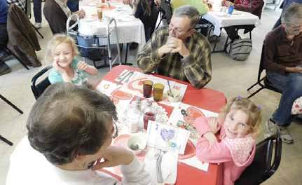 Local kindergarteners enjoy special lunch at Care and Share