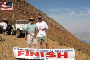 Courtesy photo -  Ed Gallegos and Lt. Col. Gregory Gibbons at the finish line of the 2015 9/11 Memorial Mt. Grant Challenge.