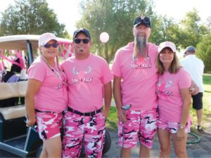 Courtesy photos - The Walker Lake Golf Course was a sea of pink last Saturday for the Breast Cancer Rally tournament.