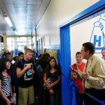 Junior high students greeted with brand new hallway
