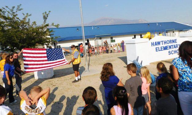 Lions Club Donates New American Flag to Hawthorne