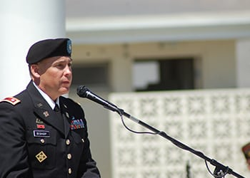 Outgoing Colonel Delivers Somber Memorial Day Speech