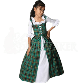 Girl's Scottish Tartan Dress - MCI-243 by Medieval and Renaissance ...