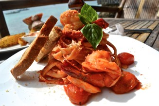 A delicious pasta marina at Spider House