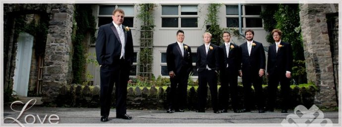 cool groomsmen photos at Sunken Gardens in Rochester NY by McKay's Photography