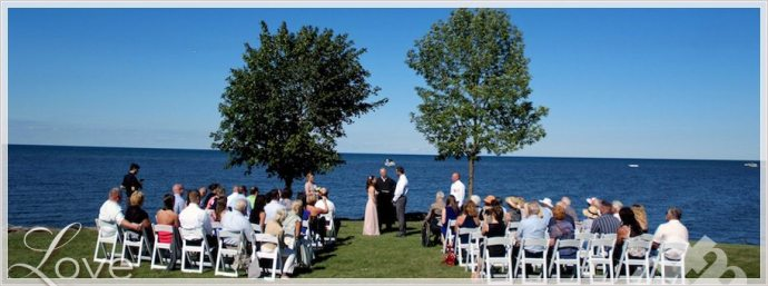 Western NY lake wedding photos near Buffalo