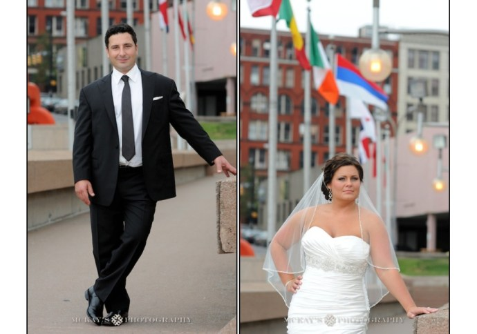 Bride and Groom on their wedding day in Rochester NY
