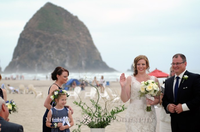 Cannon Beach Wedding Photos inspired by Goonies Movie by destination wedding photographer Heather McKay