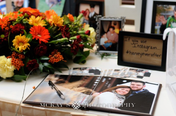 wedding guestbook using engagement photos
