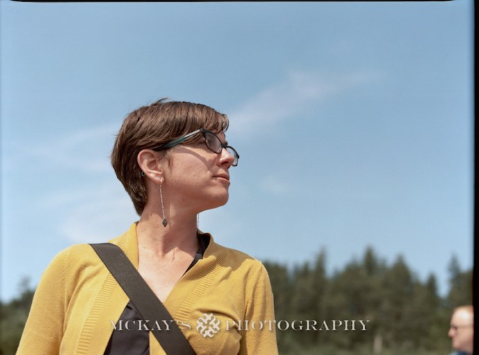 Medium Format film Wedding Photos by Heather McKay on Cannon Beach, Oregon