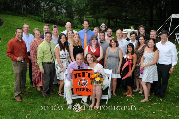 RIT Alumni group wedding photo
