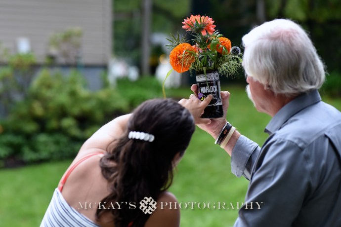 Amy and Glen's backyard wedding in Pittsford NY