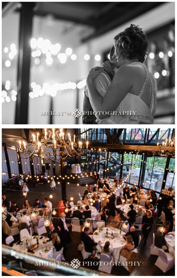 documentary Rochester wedding photography at High Falls La Luna Restaurant with Jeri and Aaron by McKay's Photography