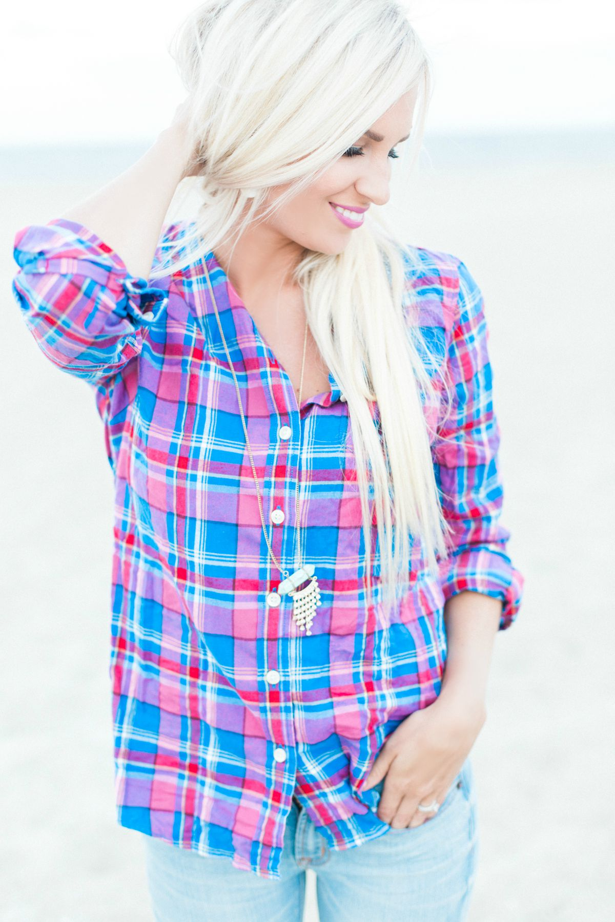 Fall Plaid Shirt - McKenna Bleu