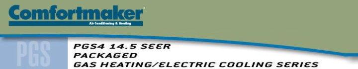 Comfortmaker PGS5 14.5 SEER Gas Pack Header