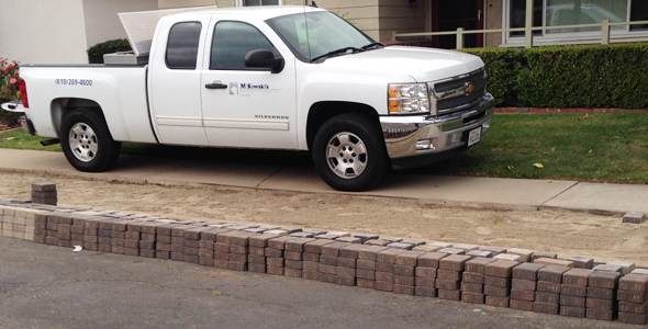 Residential concrete interlocking pavers