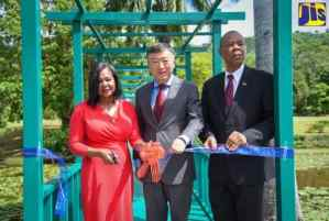 Renovated Lily Pond Bridge at Chinese Garden Handed Over to Jamaica