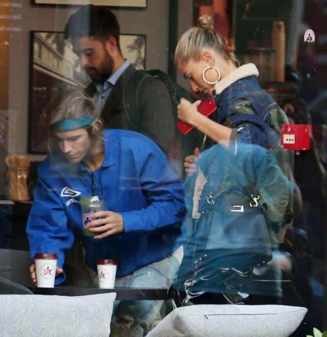 Newlyweds Justin Bieber and Hailey Baldwin Share a Smooch After London Fashion Show