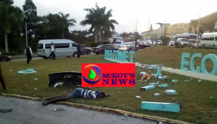 Montego Bay Airport Roundabout Crash