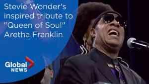 Aretha Franklin funeral: Stevie Wonder's FULL performance