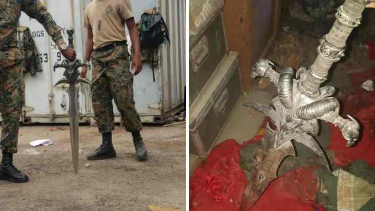Baphomet Sword Allegedly Found by the JDF Up Park Camp