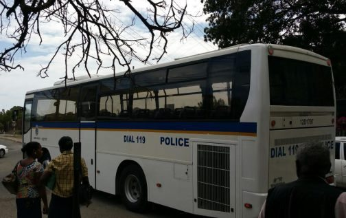 Bus used to transport Jamaicans deported on March 8, 2016