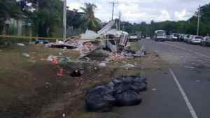 Truck With Busta Overturns On North Coast Highway