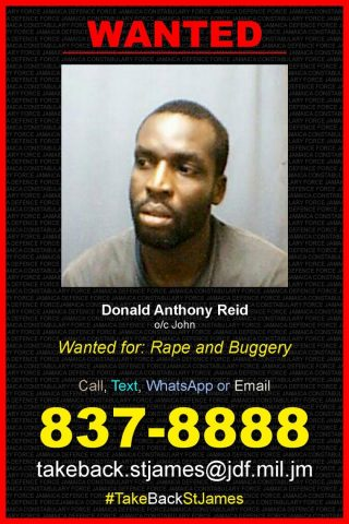 Donald-Anthony-Reid, St James Wanted List