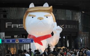 China Celebrate Donald Trump as 2018 Chinese New Year Dog