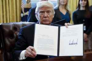 The Latest on U.S. President Donald Trump and his ban