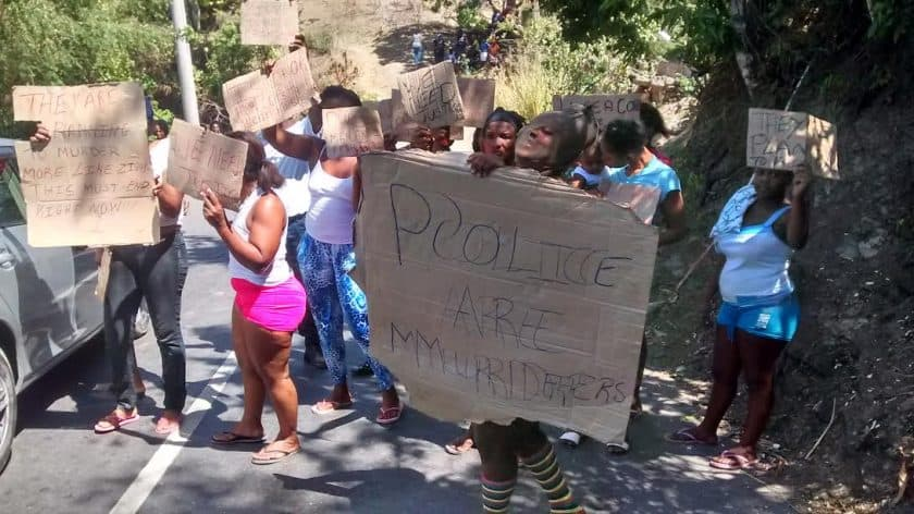 Green Island Residents Protest