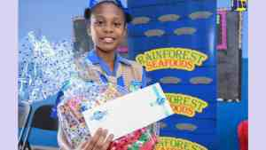 Head Girl at Iris Gelly Primary Travels Far to Achieve