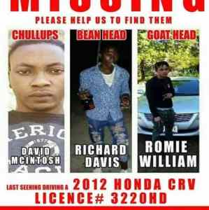 HONDA CRV (of 3 Men from SAV that were found dead) FOUND in MOBAY