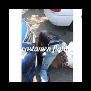 'Rastamen' fighting- 'Rastamen' fighting after exchanging expletives