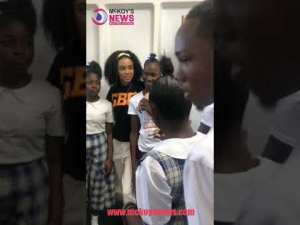 International Recording Artiste DyDy Interacting with Miss Congeniality 2019 Contestants of Innswood High School