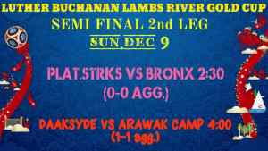 Luther Buchanan Gold Cup: Deadlock After First Leg Semi-Finals