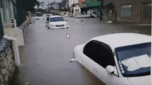 Downtown Montego Bay Flooded