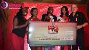 Mystery Lady wins Red Stripe Big Buss Contest at Pier One in Montego Bay