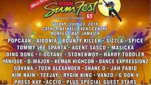 Reggae Sumfest Live Stream POPCAAN|AIDONIA|BOUNTY KILLER|TOMMY LEE|MASICKA July.20.2018