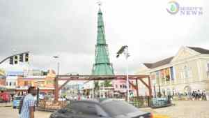 Montego Bay: Christmas Tree Erected at Sam Sharpe Square