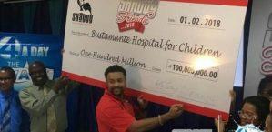 Shaggy Reveals $100 million Cheque
