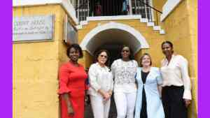 Spouses of CARICOM Heads Visit Historic Falmouth