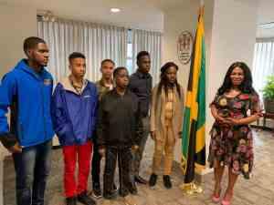 St Jago High's 2019 Champion Schools Challenge Quiz Team Visits New York
