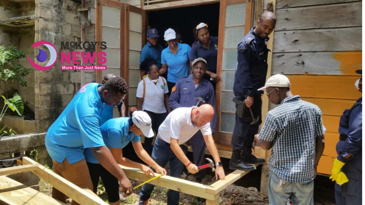 TRELAWNY RESORT AND NONE PROFITABLE GROUPS CARRY OUT $700,000 LABOR DAY PROJECT ON HOME OF PARISH'S CENTURIAN