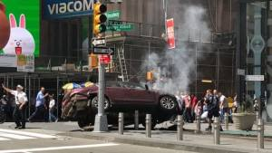 Times Square Crash Kills One, Injured 22